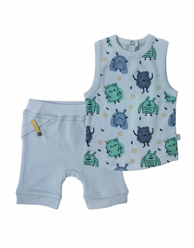 Finn & Emma Monsters Tank Tee with Shorts