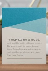 Goodbye & Good Luck Card- 6580