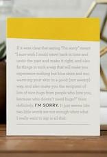 I'm Sorry Card- 6318