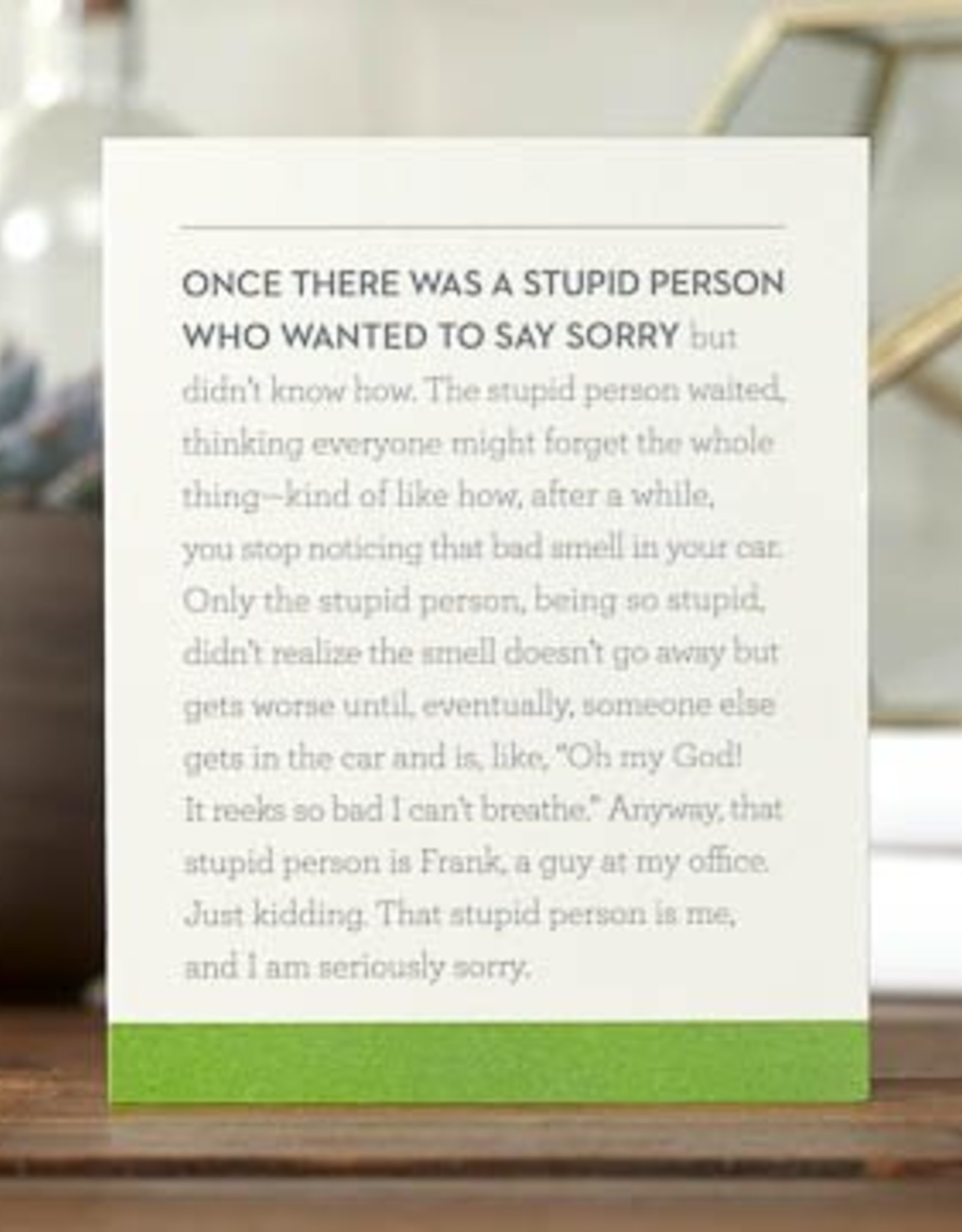 I'm Sorry Card- 6171