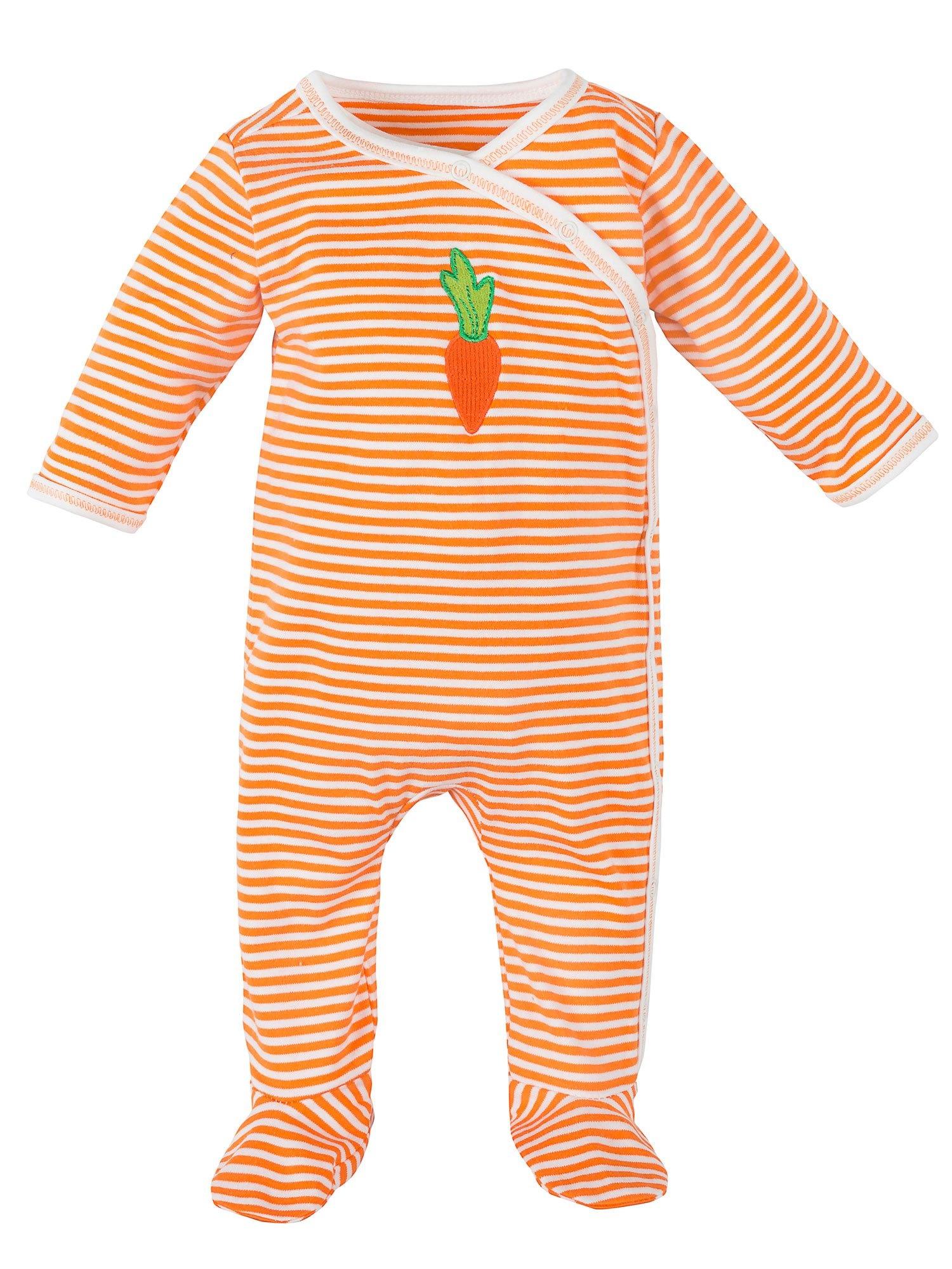 Carrot Side Snap Footie