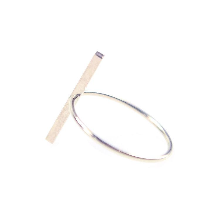 Favor Jewelry Stitch Bar Ring