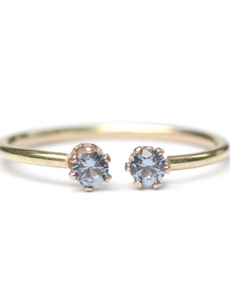 Favor Jewelry Blue Zircon Twin Ring