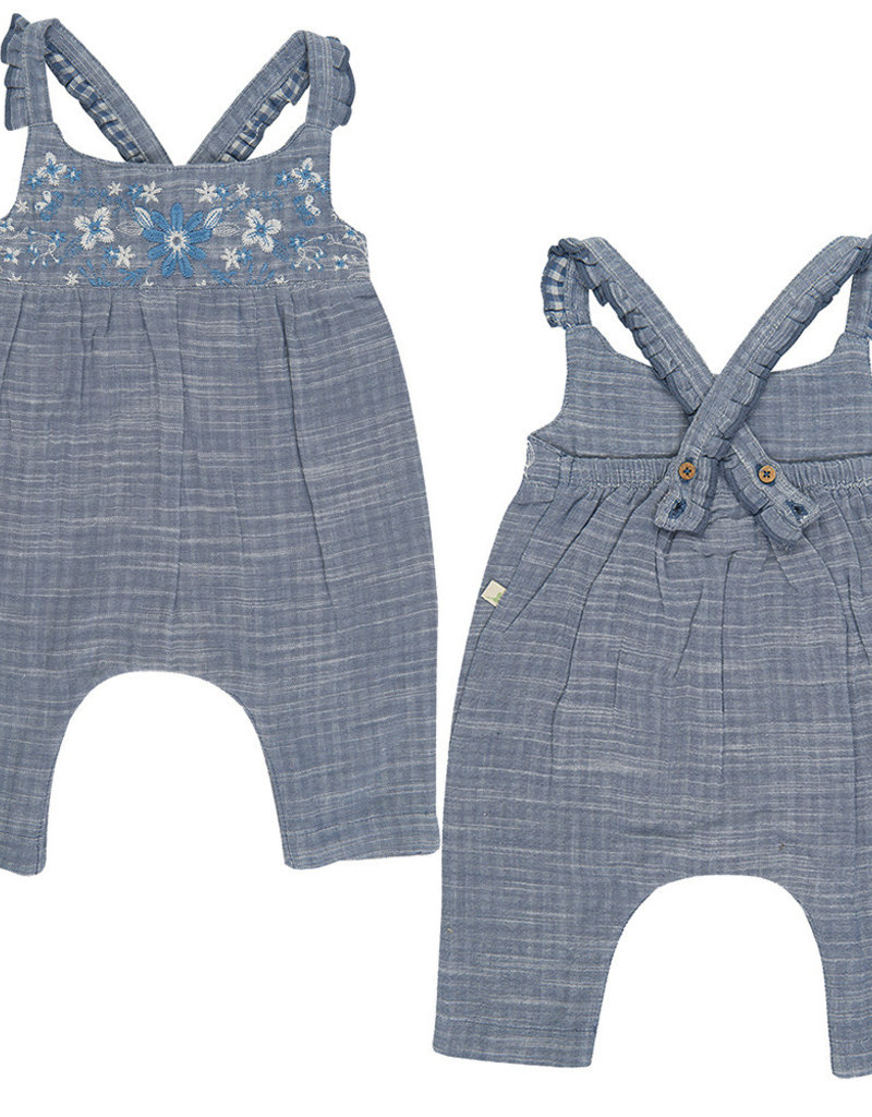 Tiny Twig Roxanne Sun Suit- Blue Chambray