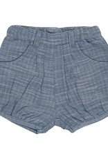 Tiny Twig Woven Shorts- Blue Chambray