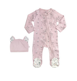 Finn & Emma Bambi Footie & Hat Set 9-12m