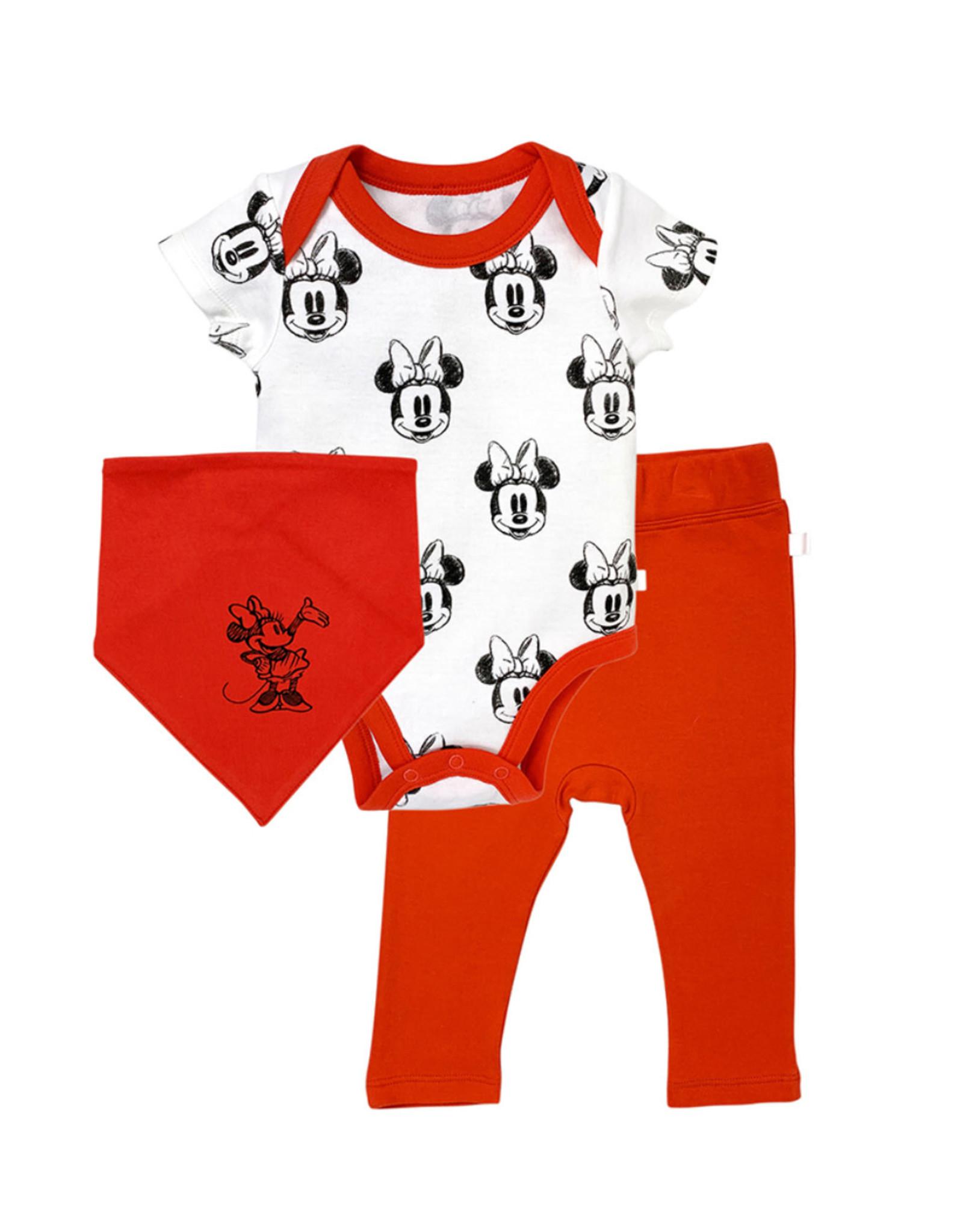 Finn & Emma Disney Bodysuit, Pants, & Bib Set Minnie Mouse