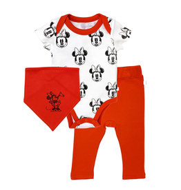 Finn & Emma Disney Bodysuit, Pants, & Bib Set Minnie Mouse