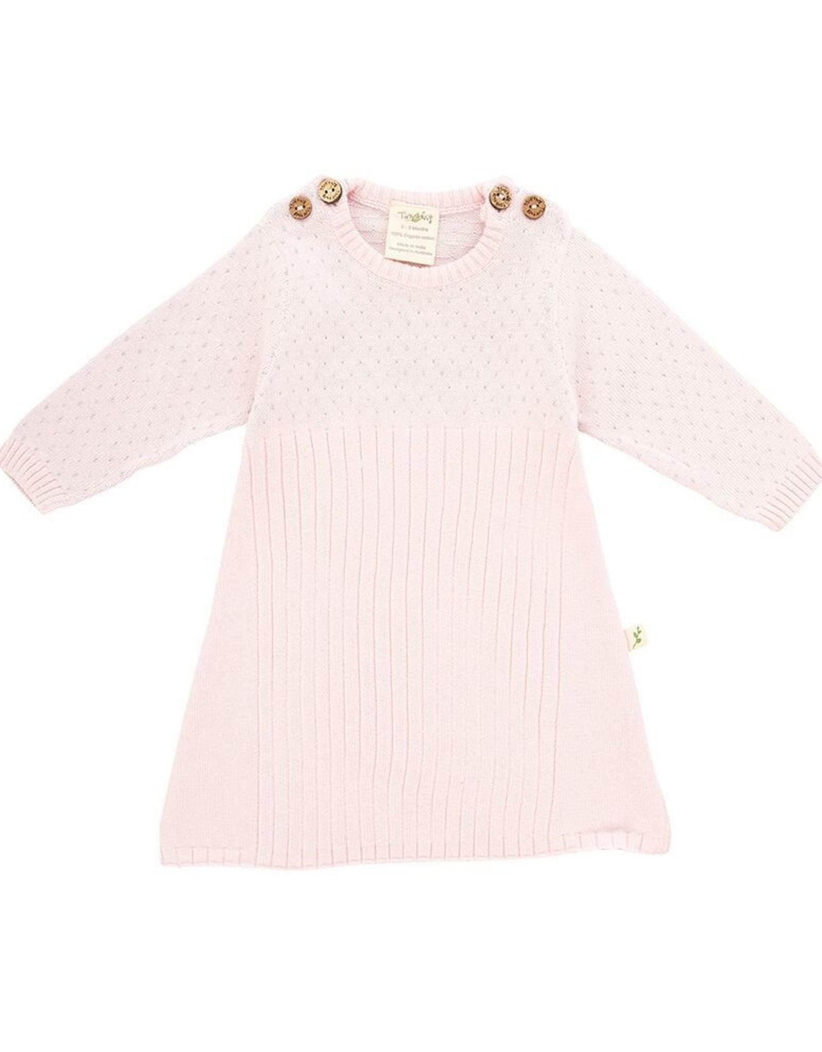 Tiny Twig Knit Jacquard Dress- Pink