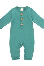 Tiny Twig Button-up Growsuit- Winter Green
