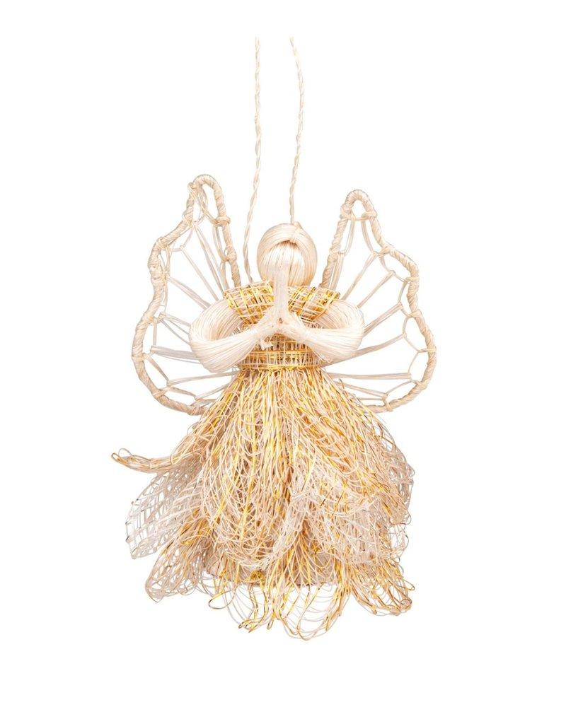 Praying Sinamay Angel Ornament