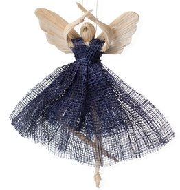 Ballerina Angel Ornament Blue
