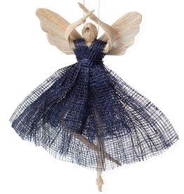 Ballerina Angel Ornament Blue