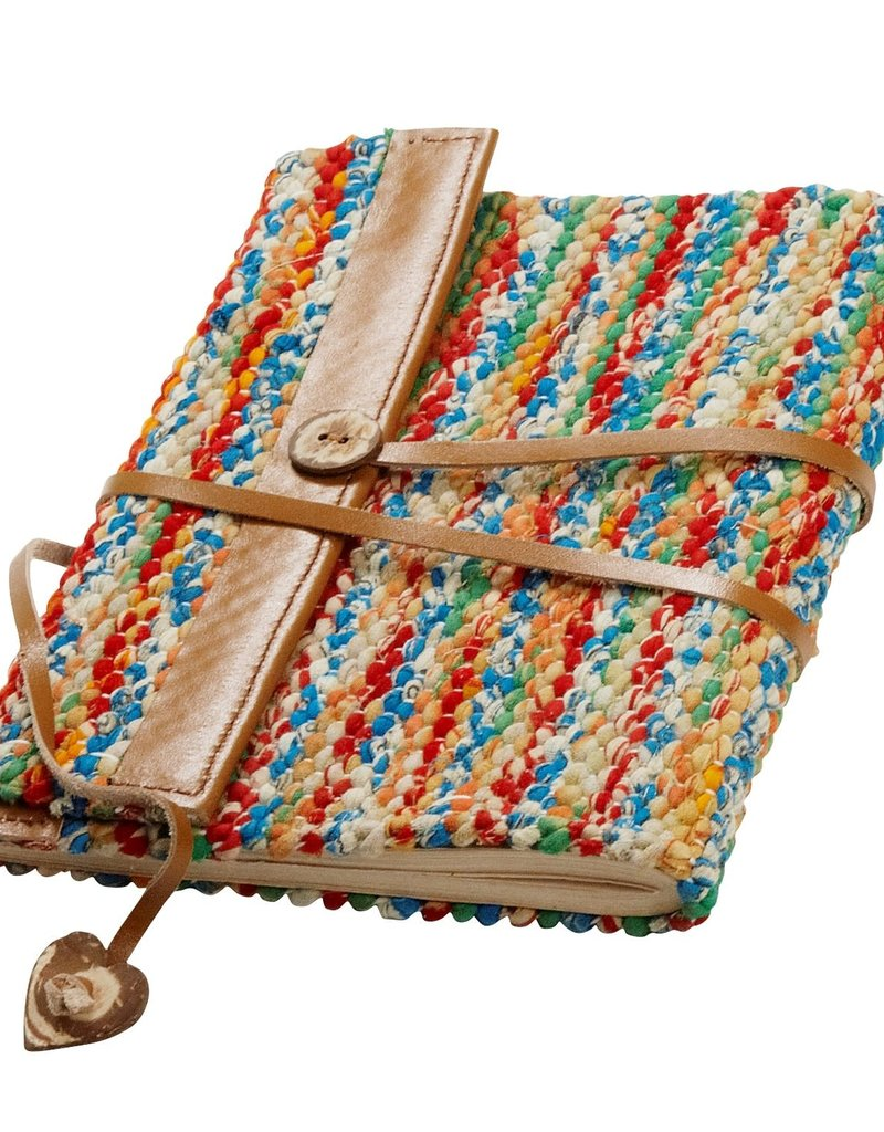 Sari & Leather Travel Journal