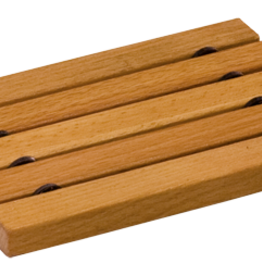 Redecker Wooden Soap Dish- Flat Oiled Beechwood