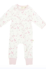 Tiny Twig Frill Zipsuit- Pink Bambino