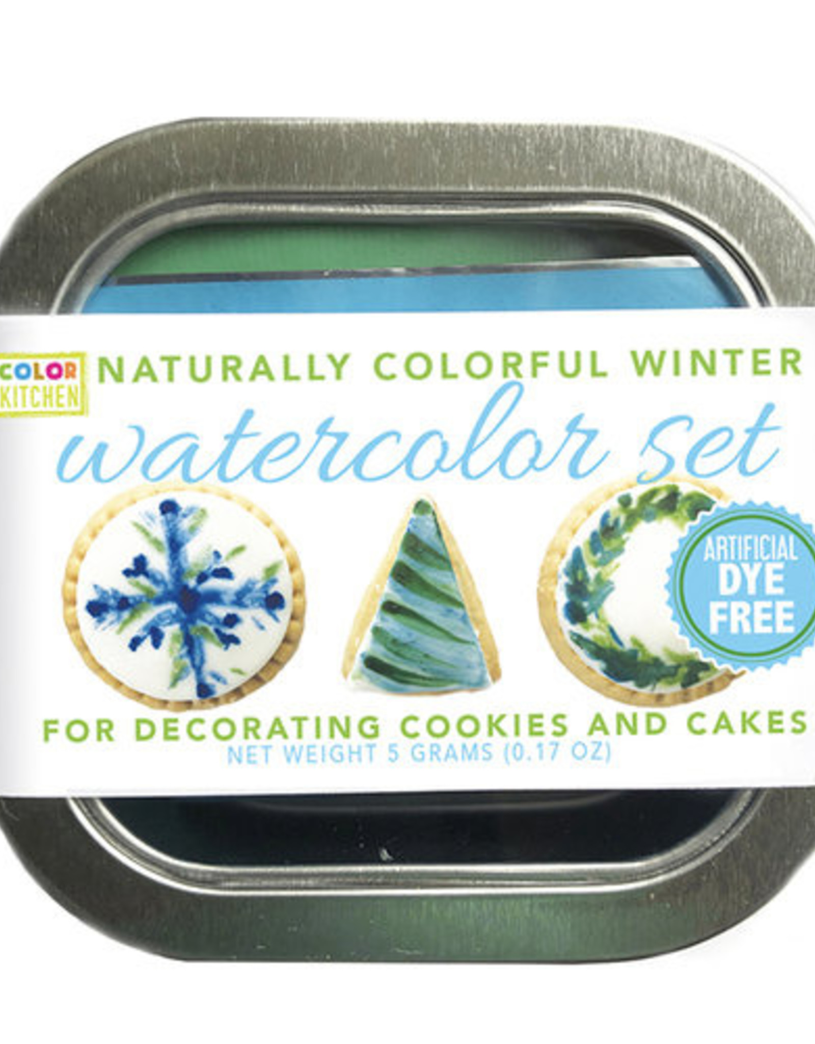 Color Kitchen Watercolor Food Decorating Kit- Blues & Greens