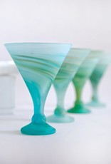 Icy Whirlpool Cocktail Glass- Martini Style