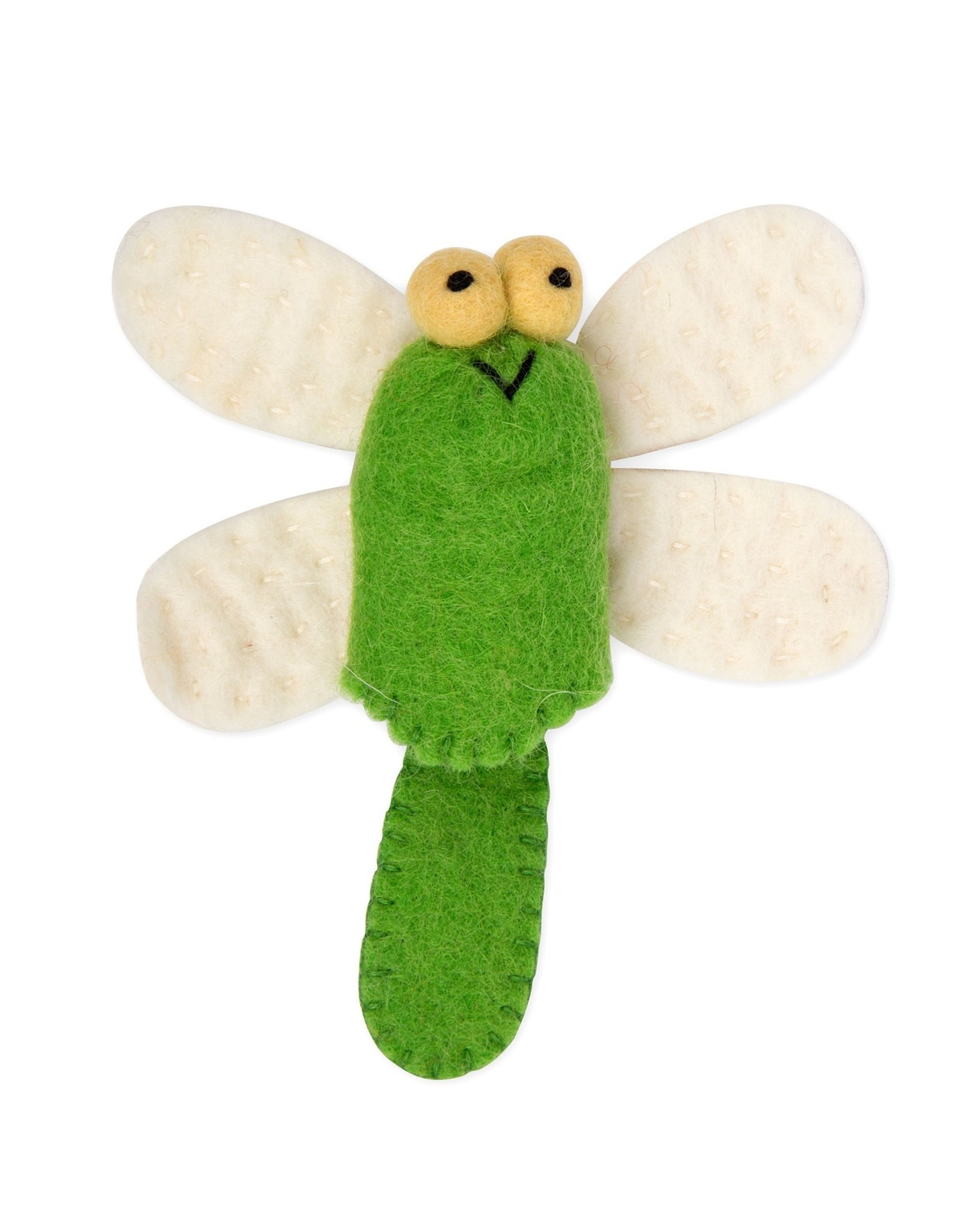 Dragonfly Wool Finger Puppet