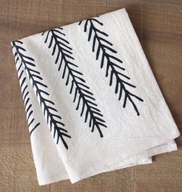 Little Korboose Organic Cotton Cocktail Napkins- Set of 2- Feather