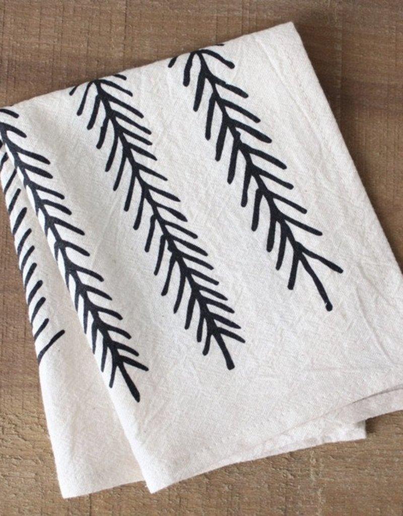Little Korboose Organic Cotton Cocktail Napkins- Feather