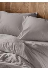 Pale Gray Sateen Duvet Cover, Queen