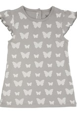 Lily & Mortimer Breezy Dress- Gray Butterfly