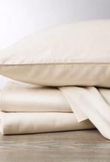300TC Sateen Sheet Sets- Natural & Alpine White