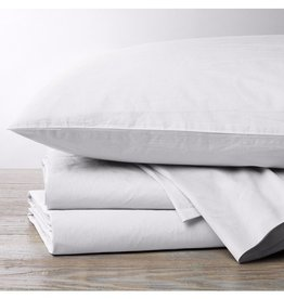300TC Percale Sheet Sets- Natural & Alpine White