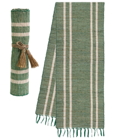 Vetiver Table Linens- Emerald