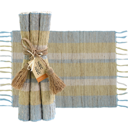 Vetiver Table Linens- Serene Stripe