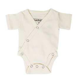 L'oved Baby Organic Cotton Short Sleeve Bodysuit- Beige