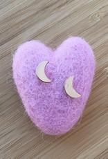 Little Moon Stud Earrings Gold
