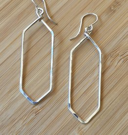 Small Hexagon Hoop Earrings-