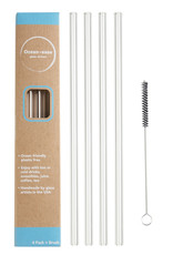 Ocean Ease Glass Straws- Pack of 4 with Brush
