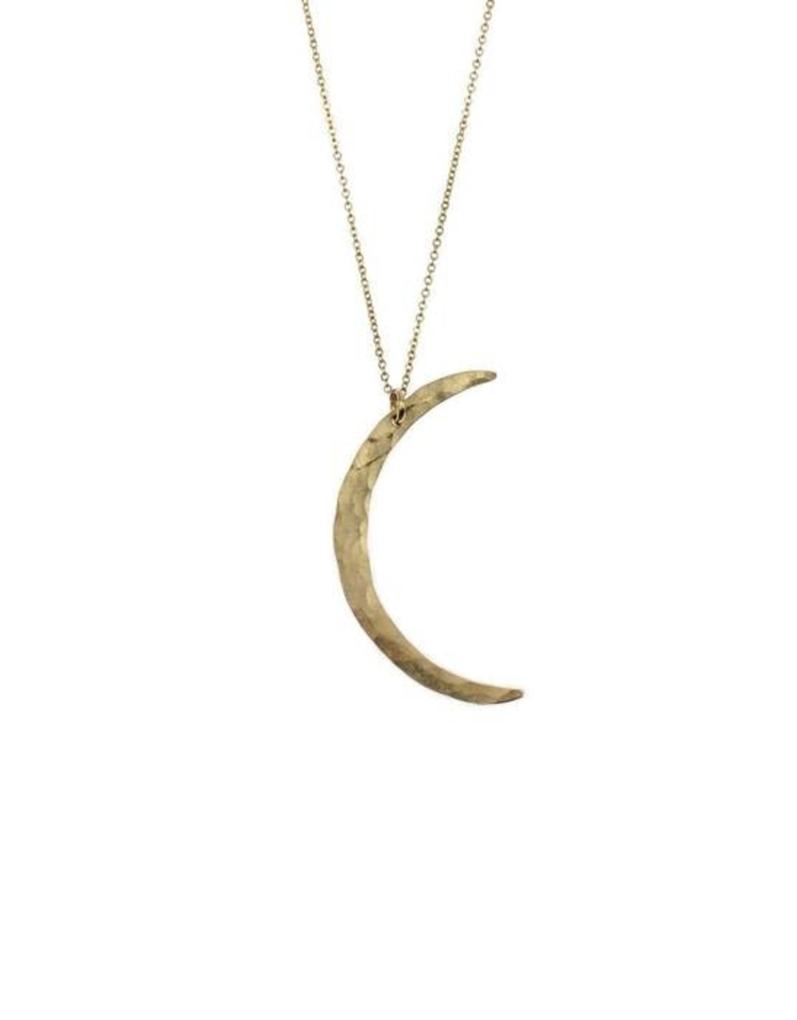 Crescent Moon Necklace- Silver