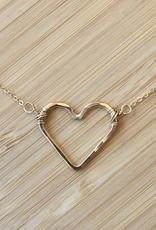 Open Heart Necklace- Gold