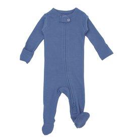 L'oved Baby Organic Zipper Footie- Slate