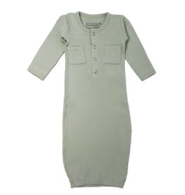 L'oved Baby Organic Cotton Baby Gown- Seafoam