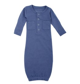 L'oved Baby Organic Cotton Baby Gown- Slate