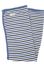 L'oved Baby Organic Stripe Swaddle Blanket- Slate