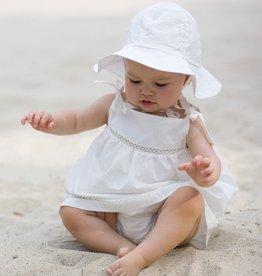 White Poplin Sun Hat