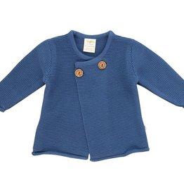 Tiny Twig Knit Wrap Cardigan Sapphire