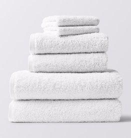 Cloud Loom Towels- 6 Piece Set White