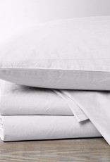 300TC Percale Pillowcase Set- Natural & Alpine White