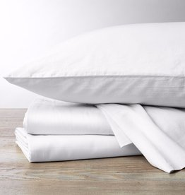 300TC Sateen Pillowcase Set- Natural & Alpine White