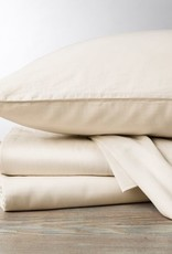 300TC Sateen Pillowcase Set- Natural & Alpine White