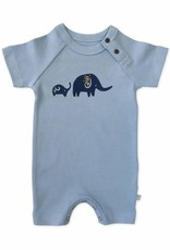 Finn & Emma Baby Blue Elephant Short Sleeve Romper
