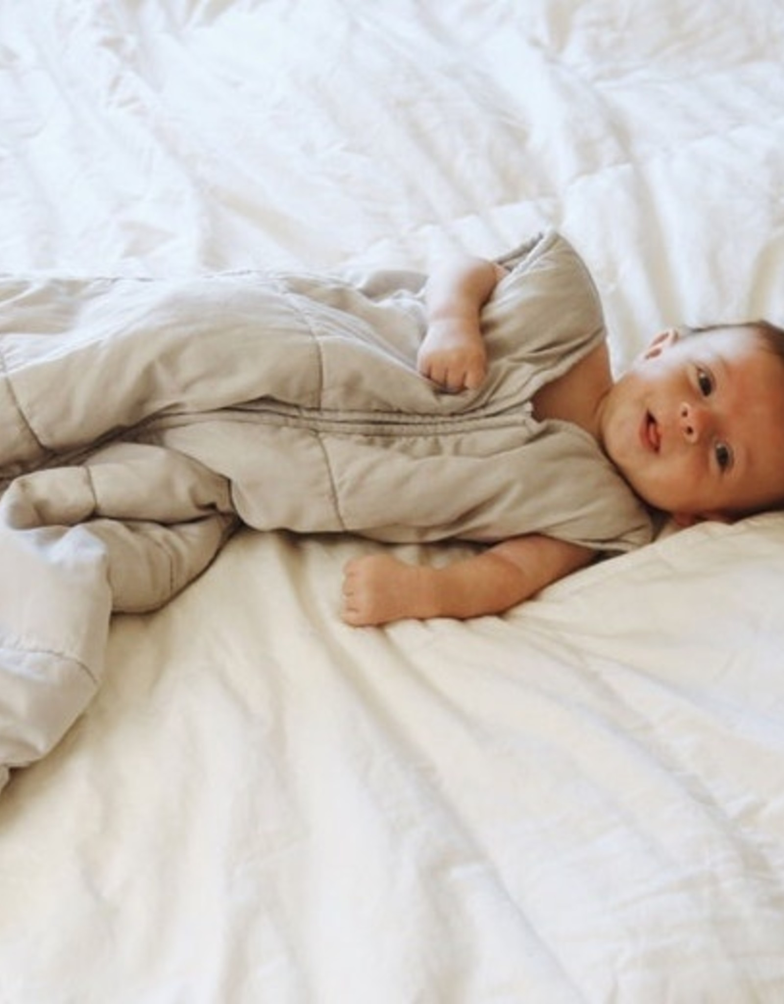Quilted Sleep Sack- Pale Gray