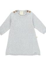Tiny Twig Knit Jacquard Dress- Gray